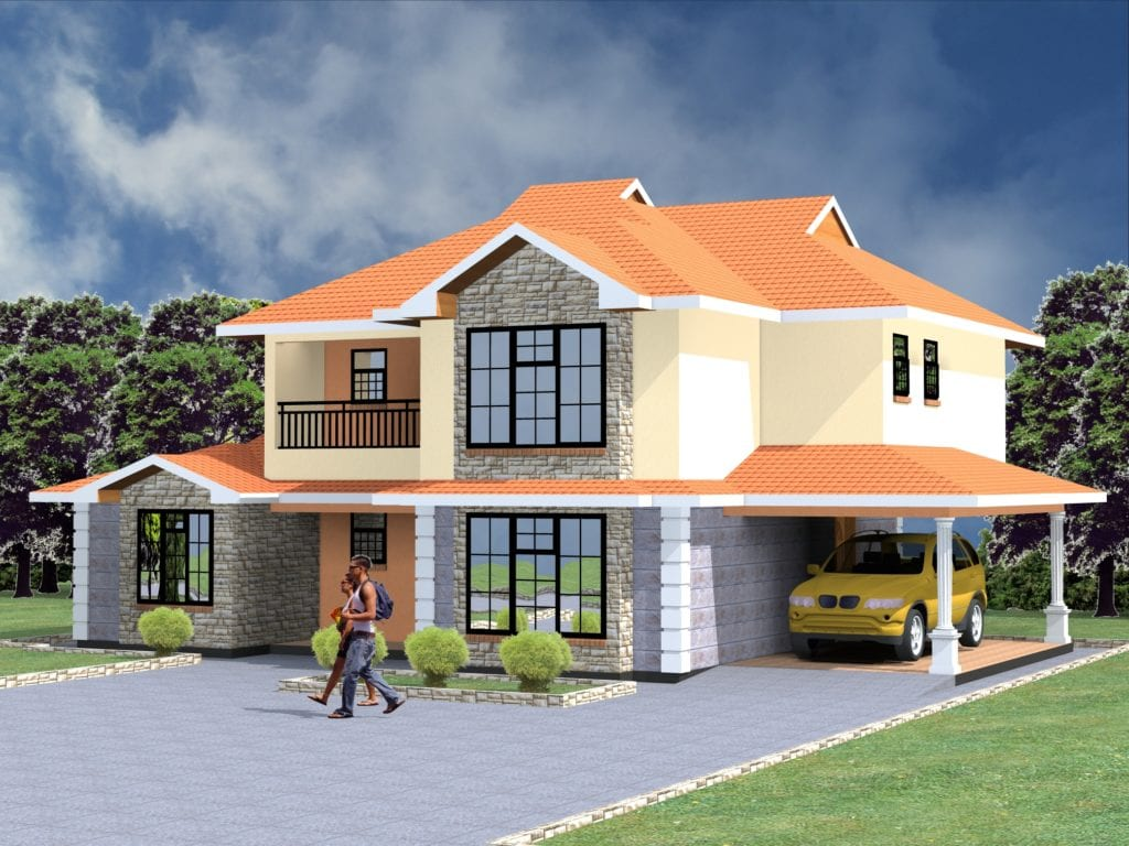 5 Bedroom Maisonette House Plans in Kenya | HPD Consult