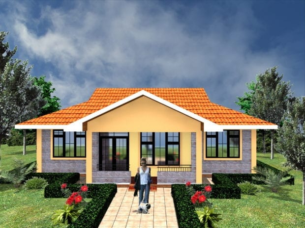 3 bedroom floor plan bungalow