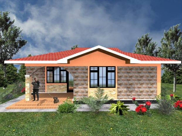 2 bedroom house plan design