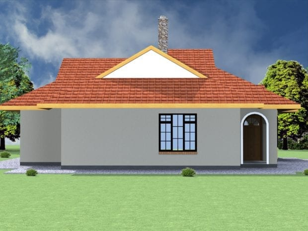3 bedroom house plan with dimensions