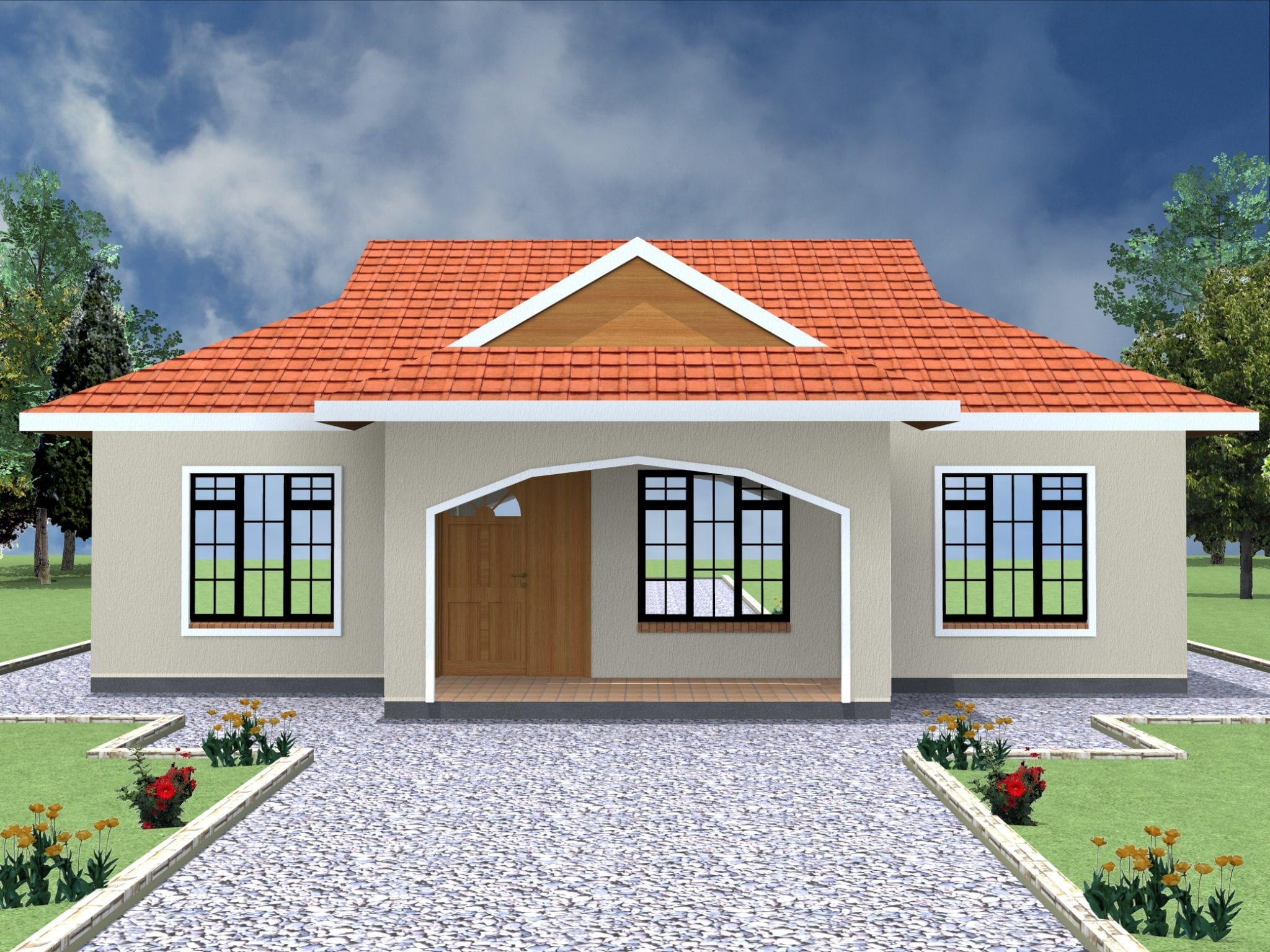 Simple 2 Bedroom House Plans in Kenya | HPD Consult