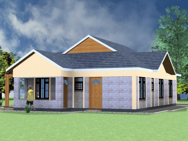 4 Bedroom bungalow architectural design