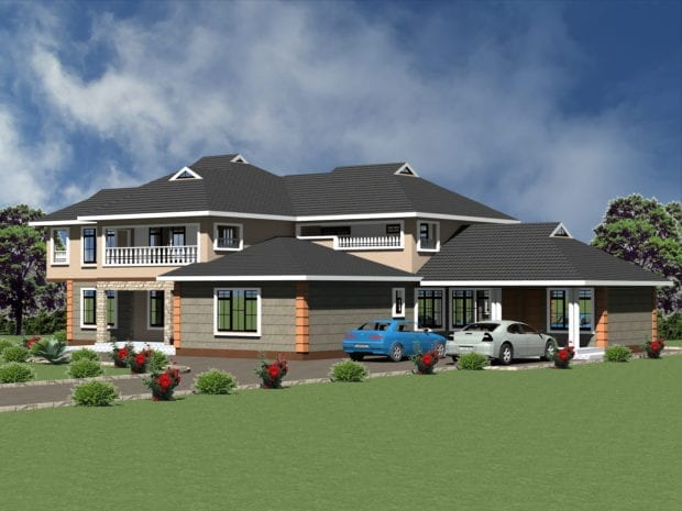 7 Bedroom Maisonette House Plan