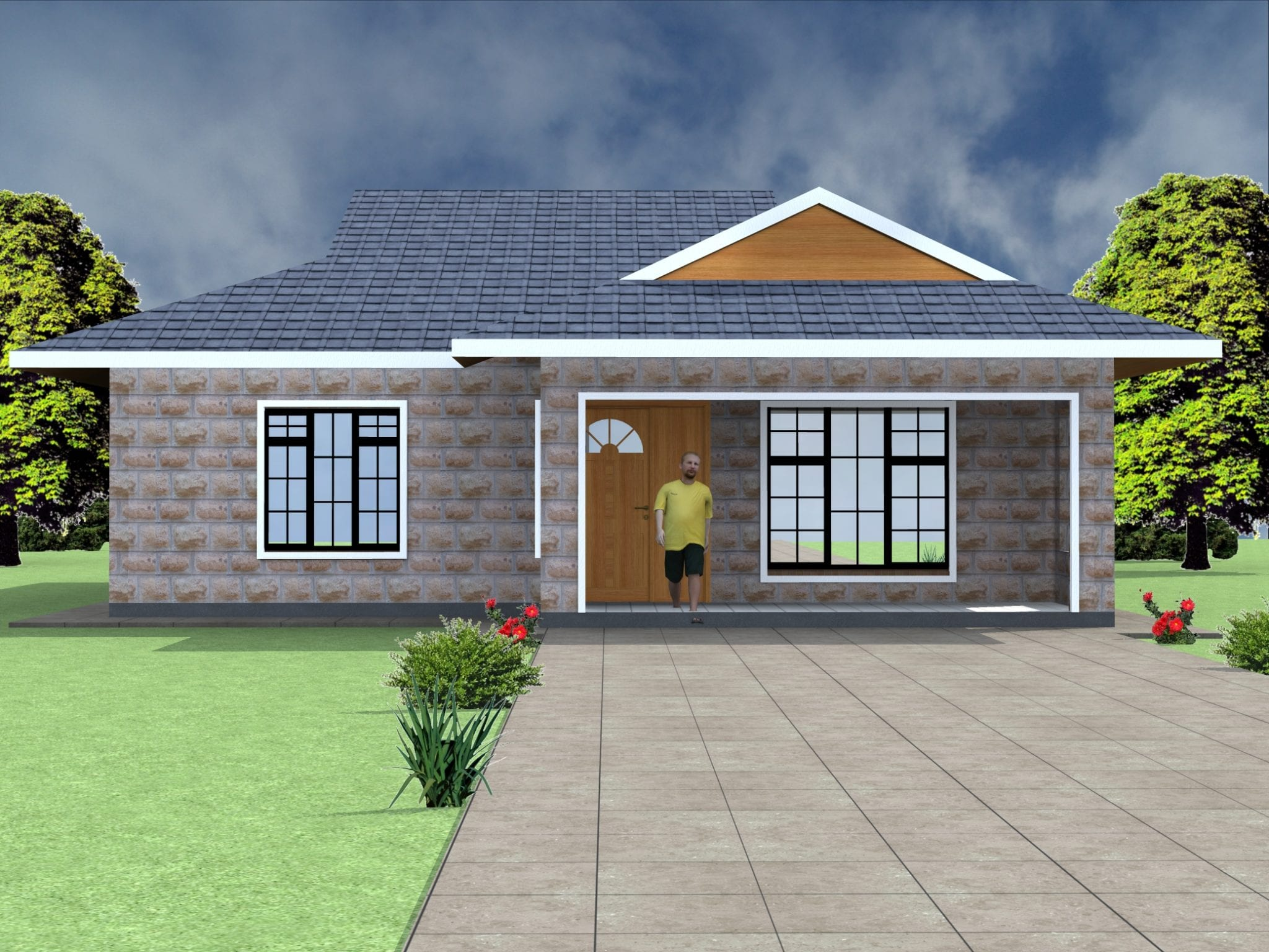 Two bedroom house designs |HPD Consult