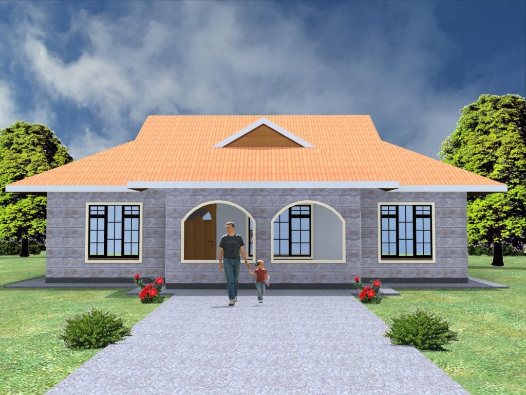 Three bedroom house plans in kenya |HPD Consult