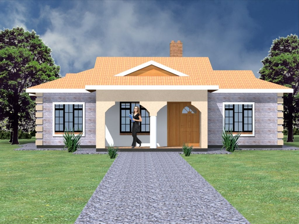 Simple house design in Kenya 4 bedrooms |HPD Consult