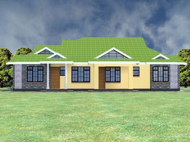 four bedroom bungalow house plans in kenya