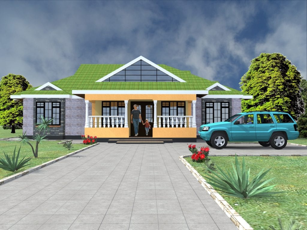 Four bedroom bungalow house plans in kenya |HPD Consult