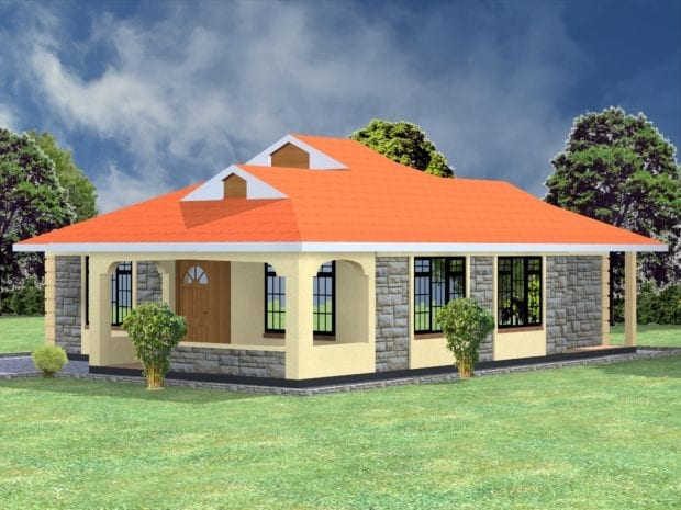Elegant bungalow house design