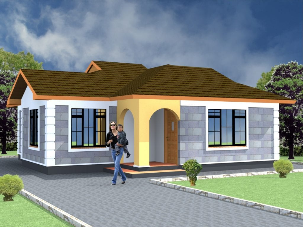 2 Bedroom House Plans pdf Free Download | HPD Consult