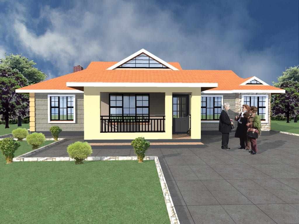 Elegant 3 Bedroom Bungalow House Plans | HPD Consult