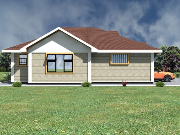 three bedroom house with garage