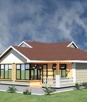 Simple 3 bedroom house plan