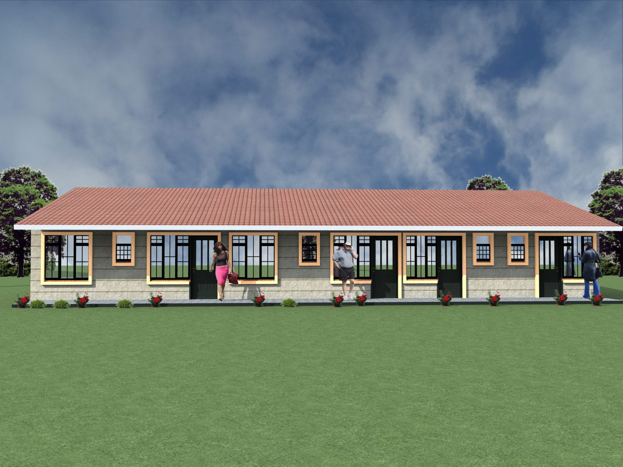 Elegant 1 Bedrooms And Bedsitters Rental House Plan Hpd Consult
