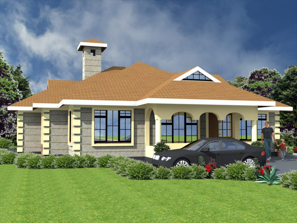 Beautiful house designs Kenya 4 bedroom Check Details Here