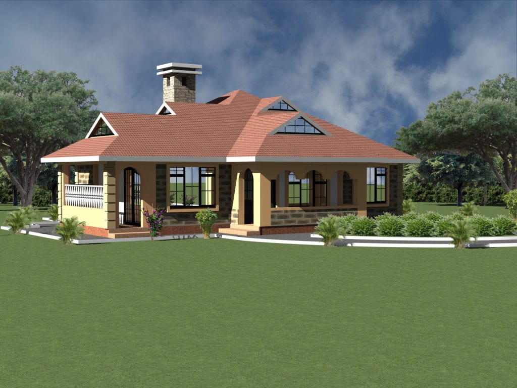 Simple spacious four bedroom house plans | HPD Consult
