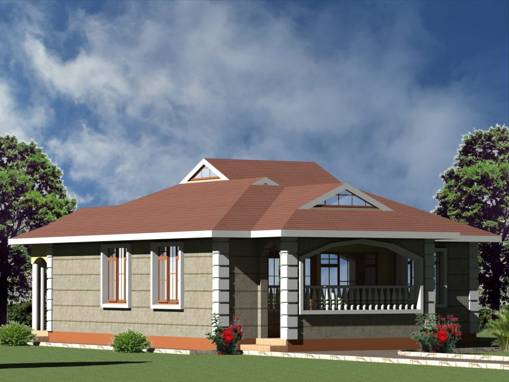 Simple & Small 3 bedroom house plan | HPD Consult