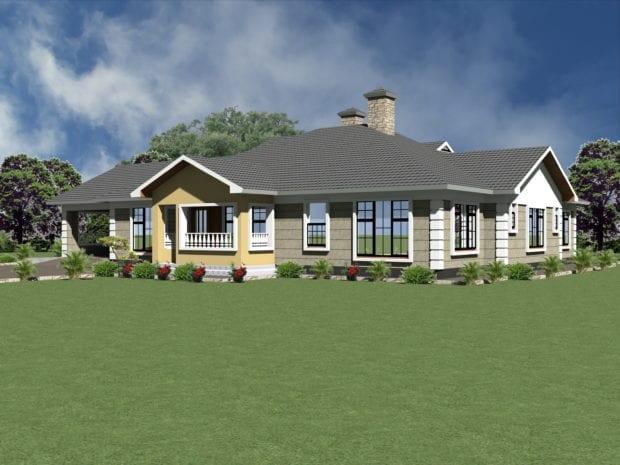 Four bedroom bungalow house plans