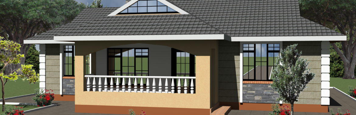 Simple Plans For 3 Bedroom House  Design 1225B