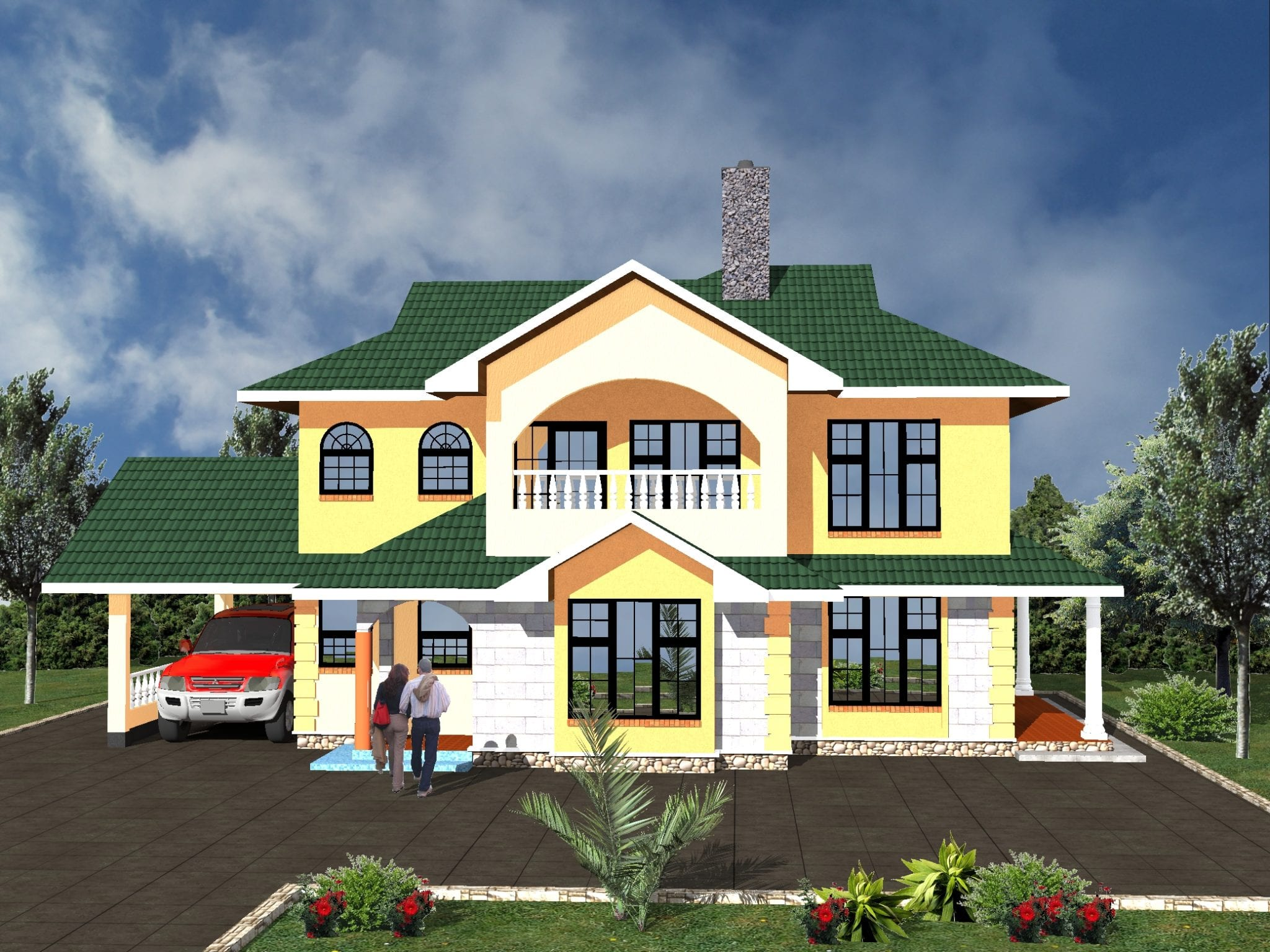 4 Bedroom House Plans One Story Designs Hpd Consult