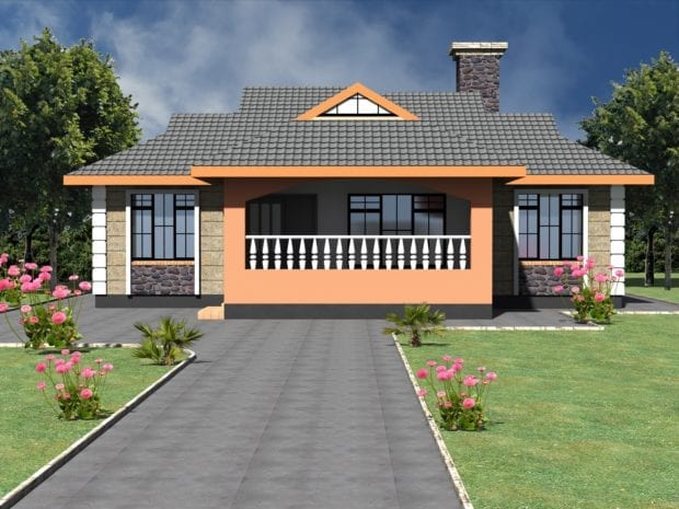 Simple 3 bedroom bungalow house