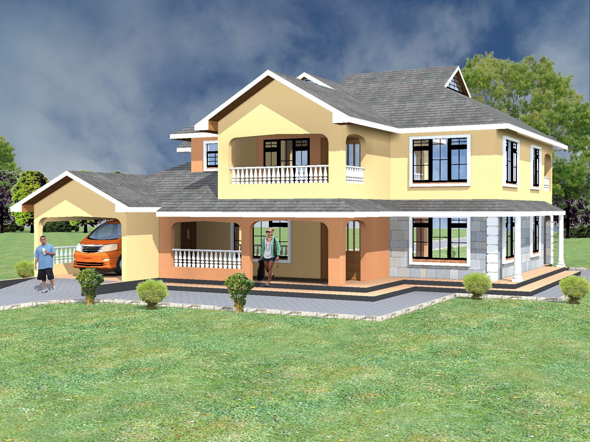 Maisonette House Plans 4 Bedroom in Kenya | HPD Consult