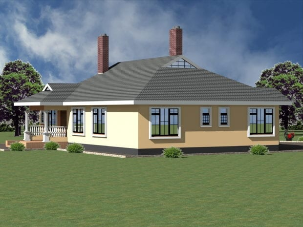simple three bedroom house plan
