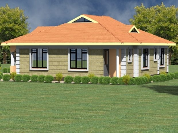 Low budget modern 3 bedroom house design