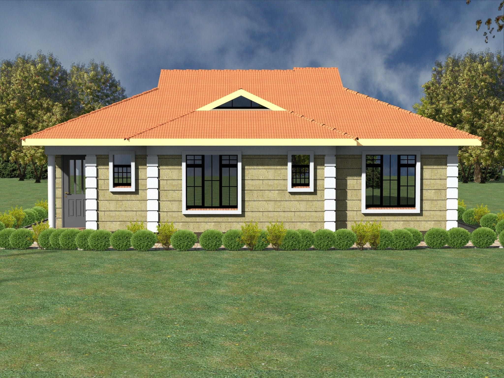 Modern 3 bedroom House Plan Design | HPD Consult
