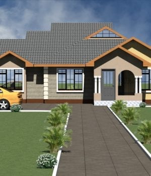 Modern 3 Bedroom Bungalow