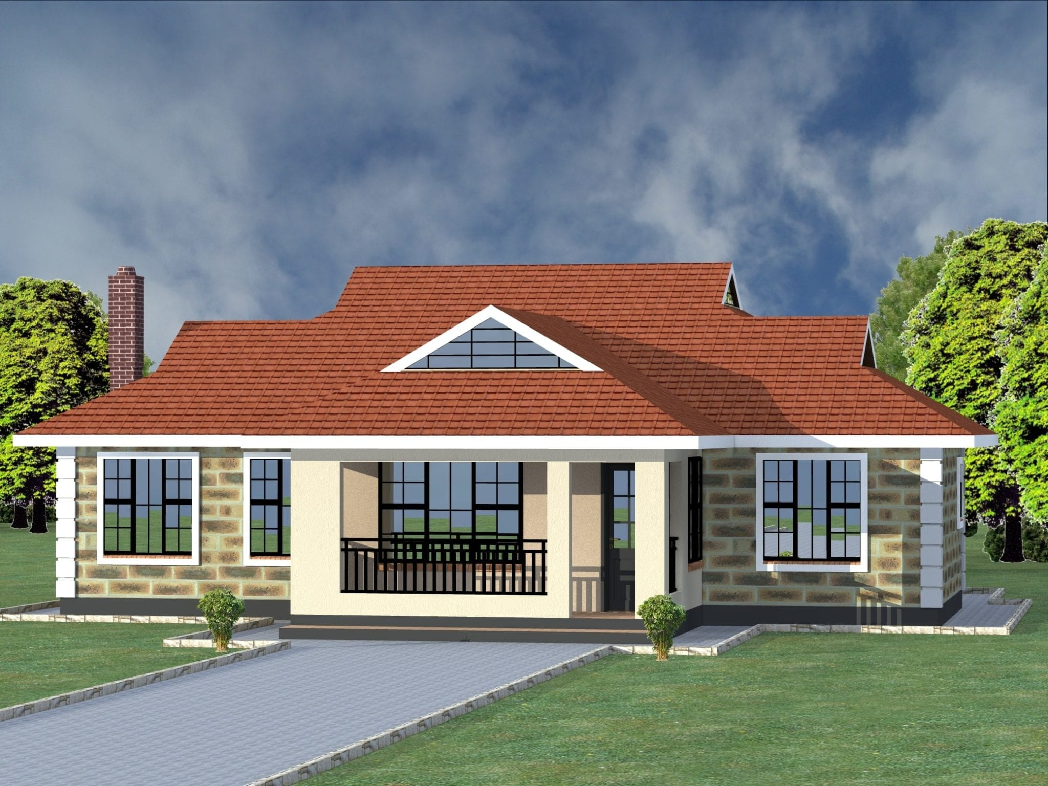 4 Bedroom House Plans Single Story | HPD Consult