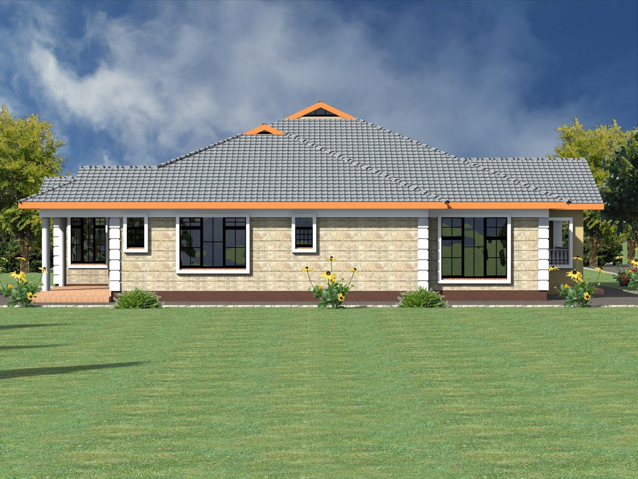 low pitch roof house plans check full details here hpd