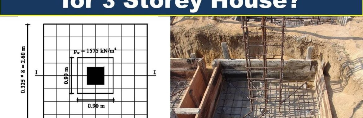 Footing Size for 2 Storey or 3 Storey House