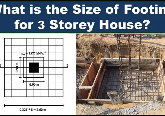 Footing Size of the Column for 2 or 3 Storey House | Soil Load Capacity & Structural Load Capacity